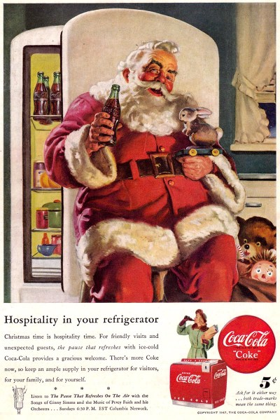 1947 Coca-Cola Santa Hospitality in your refregerator Sundblom flickr