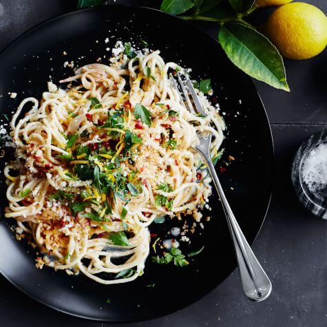 spaghetti with lemon and parmesan