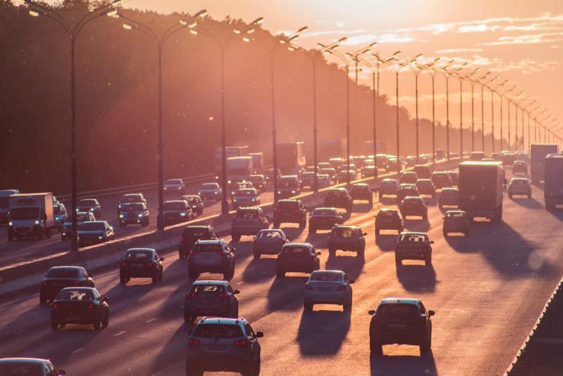 embouteillage de départ en vacances