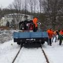 Der erste Beladungspunkt vorm Bahnübergang Coschützer Str. ist erreicht.