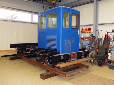 Der Kl 3586 im derzeitigen Zustand Ende Oktober 2015 in der Werkstatt.