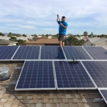 Clean solar panels attain more energy from the sun.