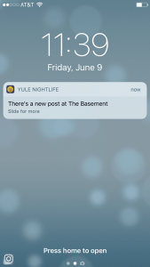 Yule Nightlife Realtime Notification