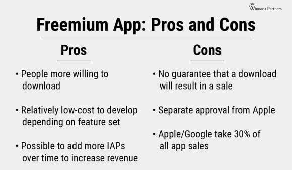 Freemium app pros and cons: what are the advantages and disadvantages to developing a freemium mobile app.