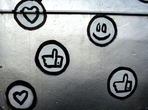 social icons in graffiti