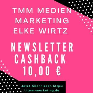 TMM Newsletter Cashback 10,00 EUR