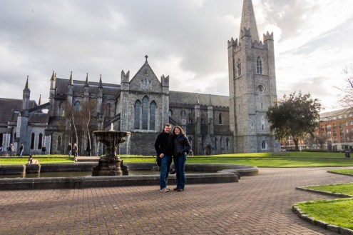 The two of us in front of St. Patrick's Cathedral.