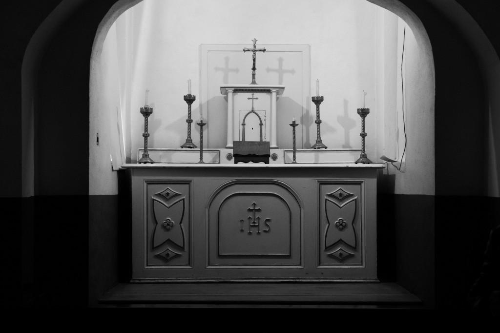 The alter at the Catholic Chapel at Kilmainham Gaol.