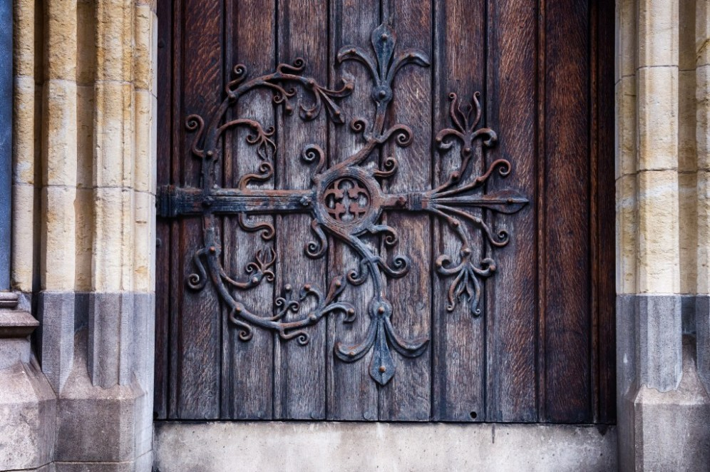 A door on the back side of Christ Church cathedral.