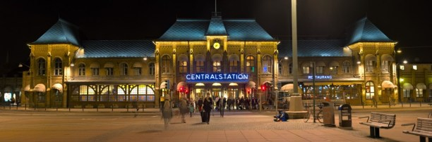 The central train station in Gothenburg, on the main square.