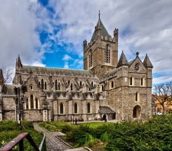 A closer shot of Christ Church Cathedral, Dublin.