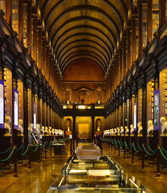 The reading room at Trinity College, Dublin.