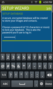 Users need to create a password of at least 10 characters.