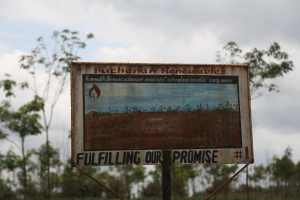 """Fulfilling Our Promise"" sign by Buchanan Renewables."