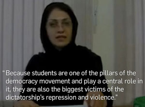 "A video made by ""prisoner of rights,"" Bahareh Hedayat preceding her detention."