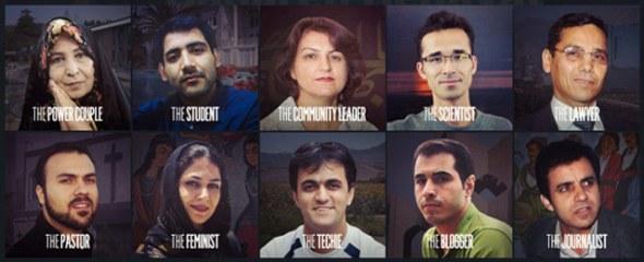 The featured prisoners of Unlock Iran