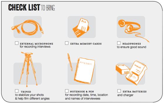 Filming Protests checklist