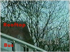 Screen grab from the end of Dokmanović's alibi video.