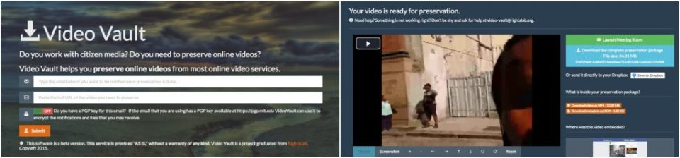 Provide an email and a URL to Video Vault, and it will send a link to a downloadable package.