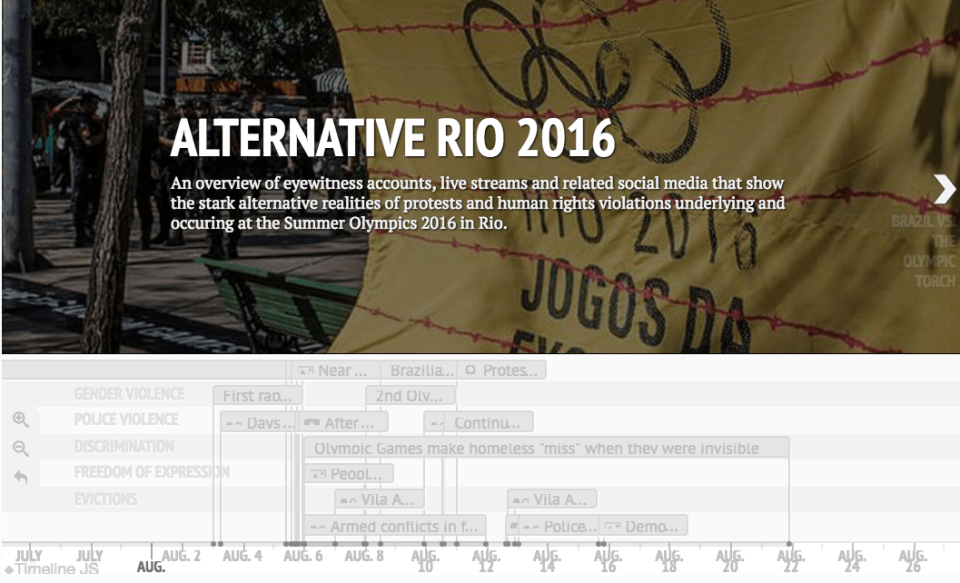 """Alternative Rio Live"" Timeline of Rights Violations During the Rio Olympics"