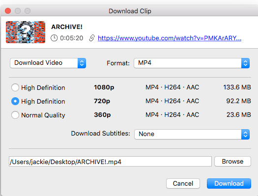 Interface of 4K Video Downloader