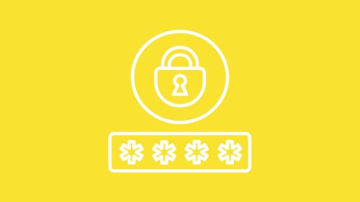 Graphic with lock and password box