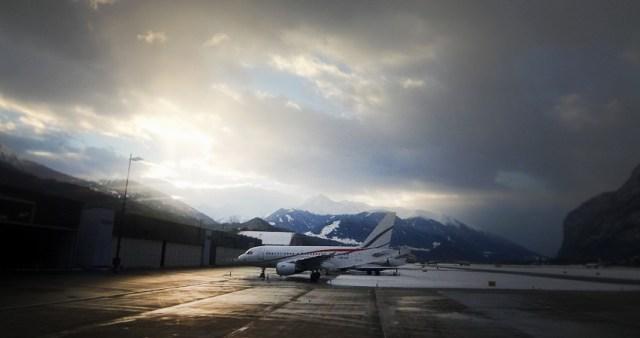 Flughafen Innsbruck - Sonne zum Abschied