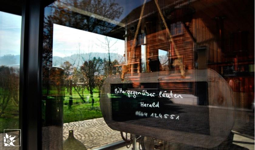 Schobel Höchstgenuss - Eingang zum Verkaufsraum