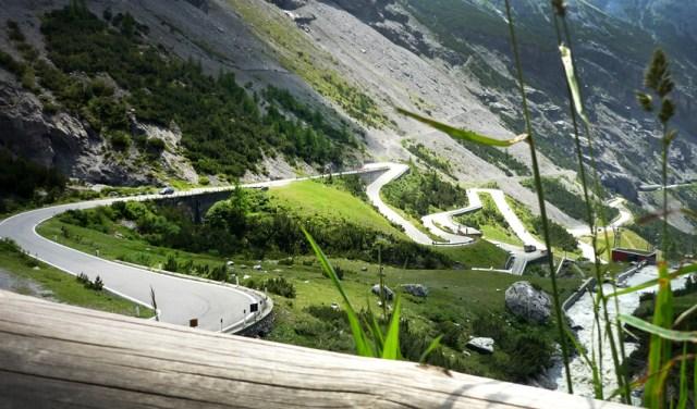 Alpen Passtraße Stilfser Joch