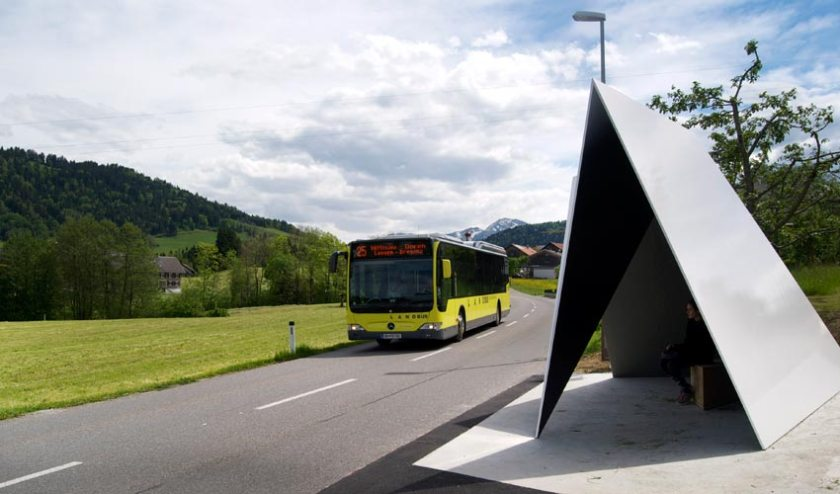 Busstop Krumbach – Entwurf aus Belgien