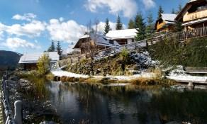 Almdorf Seinerzeit im Winter