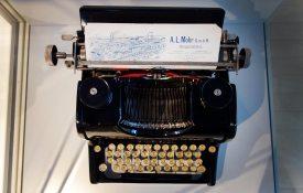 Schreibmaschine im Museum Partschins