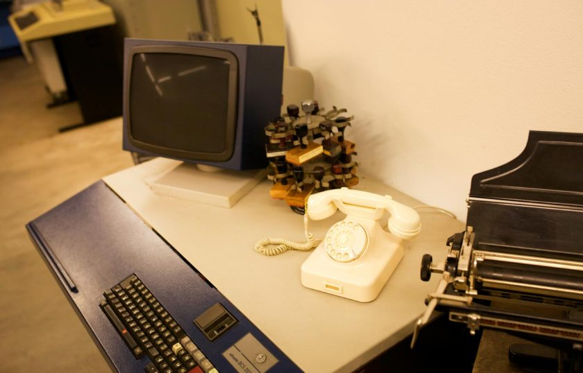 Schreibmaschinenmuseum Partschins Arbeitsplatz