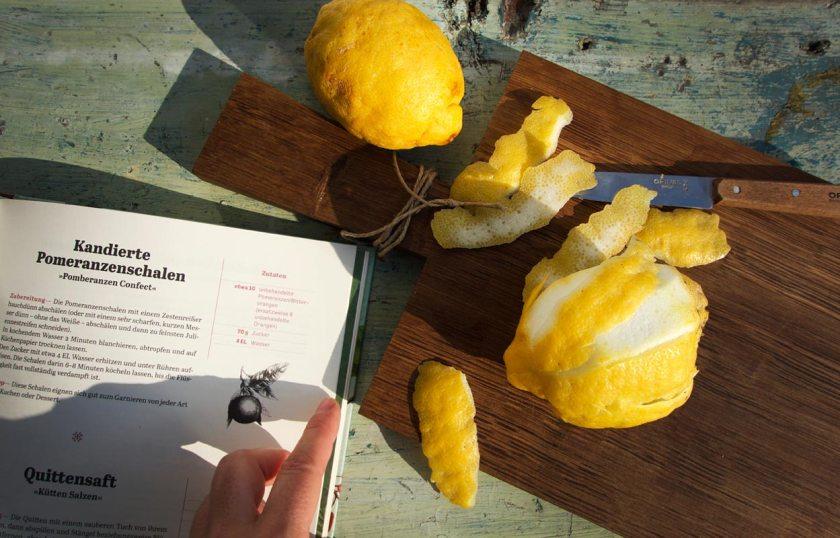 Kandierte Pomeranzenschalen / Zitronen | Und rührs ein pahr Vatter Unßer lang