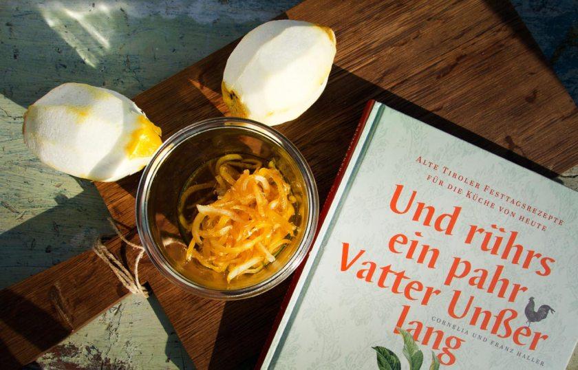 Zitronenzesten selber kandieren - Und rührs ein pahr Vatter Unßer lang