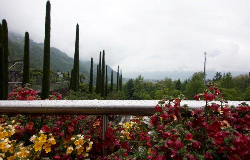 Regentag Gärten von Schloss Trauttmansdorff