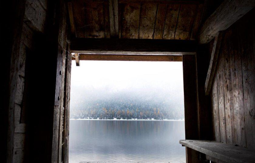 Holzhütte Ausblick Altaussee