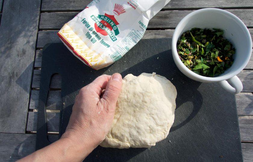 Fougasse: Teig zubereiten