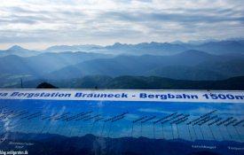 Panorama Brauneck - Bayrische Alpen
