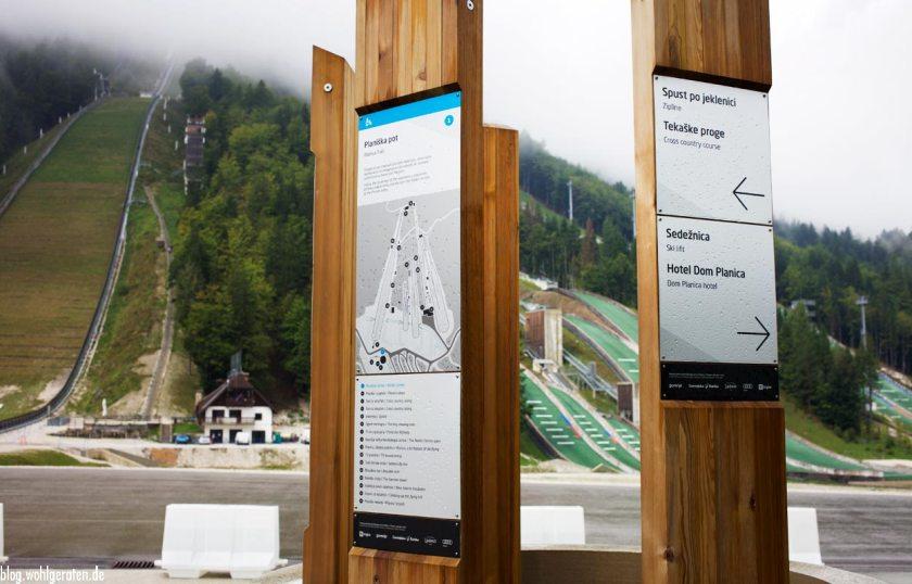 Nordic Ski Centre Planica - Wegweiser