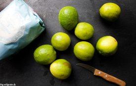 Zutaten für Limettensirup