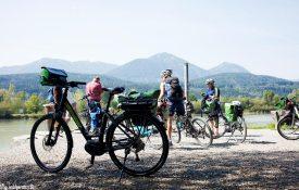 E-Bikes am Drauradweg in Kärnten