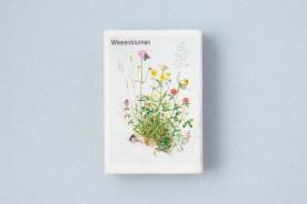 Streichholzschachtel mit Blumen