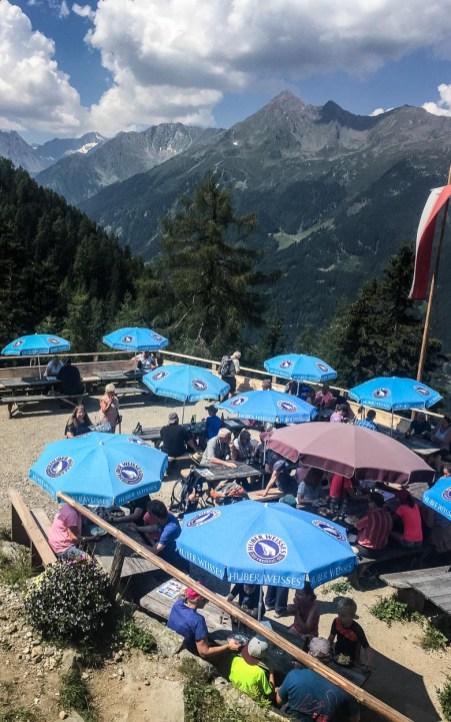 Terrasse Autenalm Stubai - Tirol