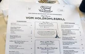 Speisekarte Speisesaal - Hotel Wiesler - Graz