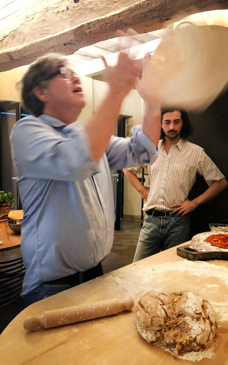 Die Pizza fliegt