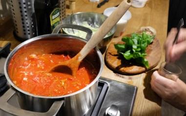 Suppe vor dem Pürieren