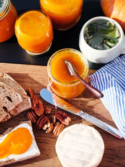 Rezept für Kürbis-Apfel-Marmelade