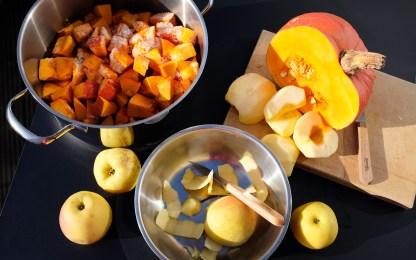 Zutaten für Kürbis-Apfel-Marmelade