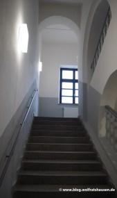 Das Treppenhaus blieb unverändert